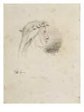Portrait de Chopin en Dante  après 1849