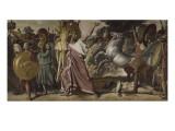 Romulus  vainqueur d'Acron  porte les dépouilles opimes au temple de Jupiter