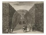 Planche 95: vue du bosquet du Berceau d'Eau dans les jardins de Versailles