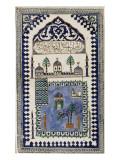 Plaque représentant la mosquée de Médine
