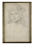Portrait de jeune homme  en buste  vu de face  coiffé d'un chapeau