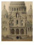 Projet pour l'église du Sacré-Coeur  élévation sud
