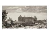 Planche 112: vue du château royal de Monceaux prise du côté du village vers 1740