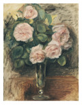 Roses dans un verre de Biot Giclée par Pierre-Auguste Renoir