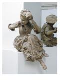 Projet de monument à Antoine Watteau : La jeune fille au masque
