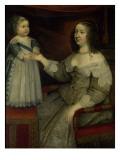 La reine Anne d'Autriche avec Louis XIV enfant alors Dauphin (avant 1643)