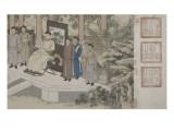 Qazaq présentant len tribut leurs chevaux à l'empereur Qianlong