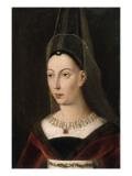 Portrait d'Isabelle de Bourbon  seconde femme de Charles le Téméraire  morte en 1465