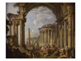 Prédication dans des ruines antiques