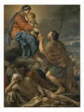 Saint Roch Interceding Virgin for Predicting Plague