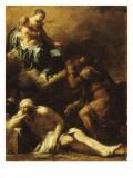 Saint Roch implorant la Vierge pour les pestiférés (esquisse)