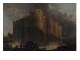 La Bastille  dans les premiers jours de sa démolition