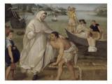 Saint Pierre Nolasque s'embarque pour ramener les captifs des Maures