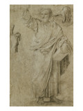 Saint Paul prêchant  étude séparée de ses deux mains