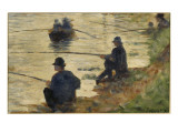 Les p&#234;cheurs &#224; la ligne  &#233;tude pour le Grande Jatte