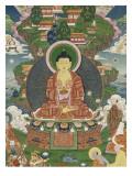 Scène de la vie de Buddha : le grand miracle de Svaravati
