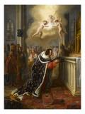 Saint Louis déposant la couronne d'épines dans la Sainte Chapelle de Paris en 1248