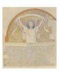 Etude pour un ange portant un phylactère intitulé Gloria in excelsis deo