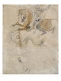 Saint Georges terrassant le Dragon; vers 1847