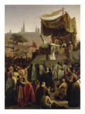 Saint Bernard prêchant la deuxième Croisade en présence du roi Louis VII et de la reine Aliénor