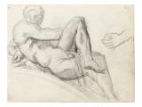 Etude d'après la sculpture de Michel-Ange : tombeau des Médicis  Florence  étude de main