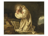 Saint Bruno en prière dans le désert