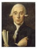 Sylvain Bailly (1736-1793)  astronome  maire de Paris  tenant le texte du Serment du Jeu de Paume