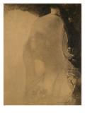 Le sommeil : une femme vue en buste  les yeux clos et coiffée d'un casque
