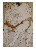 Lutteurs de sumô ; le lutteur Onogawa Kisaburô et le lutteur Tanikaze Kajinosuke