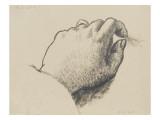 Etude de main : la main gauche de l'artiste