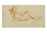 Study for the Olympia: a Woman Lying  Face Not Drawn