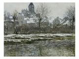 Effet de neige à Vétheuil ou Eglise de Vétheuil neige