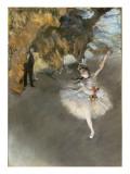 l'Etoile ou Danseuse sur scène Giclée par Edgar Degas