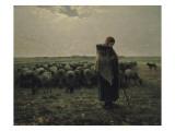 Berg avec son troupeau  dit aussi Berg gardant ses moutons ou La grande berg