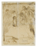 Seated Woman in an Interior  Surrounded by Characters