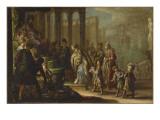 """Salomon et la reine de Saba dit aussi """"Esther devant Assuérus"""""""