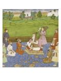 Shah Jahan  ses quatre fils et quatre courtisans