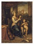 Sainte Cécile chantant les louanges du Seigneur