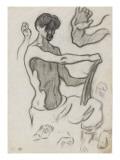 L'artiste dessinant et études de mains