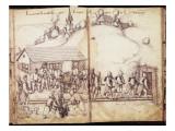 Recueil de 25 dessins: travaux de la mine Saint-Nicolas de la croix;