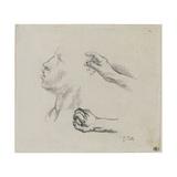 Feuille d'des : profil et mains  de pour Les glaneuses (1855-56)