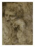 Etude de la tête de saint Joseph  pour la Sainte Famille de François Ier