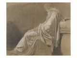 Seated  Drapery Study (Plato for &quot;Death of Socrates&quot;)