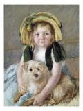 Sara avec son chien