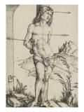 Saint Sébastien attaché à une colonne