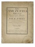 Les Amuzettes  pièces pour les vielles  muzettes  violons  flûtes et hautbois : page de titre