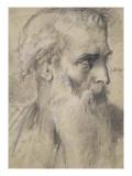 Etude de tête pour Moïse en vue de la terre promise
