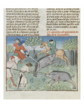 The Book of Gaston Phoebus Hunting: Killing the Boar