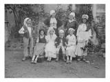 """Le groupe folklorique de Lagny-sur-Marne  """"La Brie""""  en costume traditionnel"""