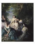 L'impératrice Eugénie entourée des dames d'honneur du palais